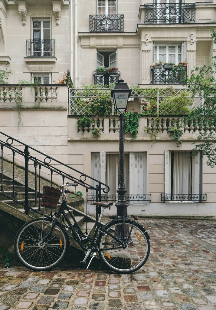 bicycle, building, city